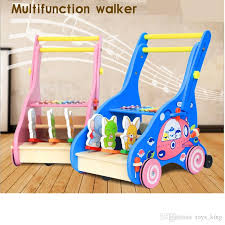 best wooden toy first step baby walker push along toy plus animals beautiful beginnings learning walking multifunction walker toddle baby toy under 46 22