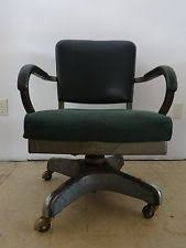 vintage office chair. Vintage Industrial Harter Office Chair Steampunk Retro Hunter Green