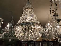 a b vintage 5 light dome basket k 9 crystal chandelier chandeliers french empire