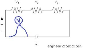if voltage is measured between two points on a wire, with no across the line wiring diagram voltmeter with no resistance