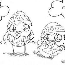 Small Picture Chocolate baby chick coloring pages Hellokidscom