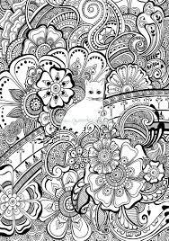 Colore Del Gatto Con I Fiori Del Hennè Colorazione In Foglio Per