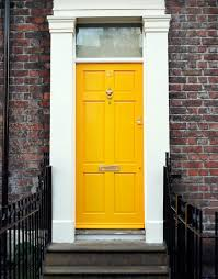 Yellow Front Door | Home Interior Design