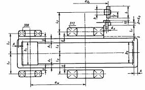 Курсовой Детали машин Первый этап компоновки редуктора  смазки внутрь корпуса и вымывания пластичного смазочного материала жидким маслом из зоны зацепления устанавливаем мазеудерживающие кольца размеры в