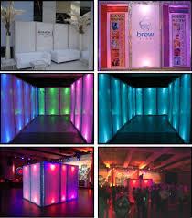 led illuminated upright walls