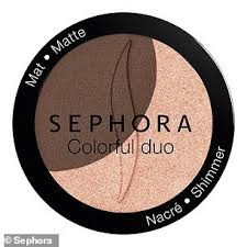 the clearance includes sephora s colourful duo eyeshadow
