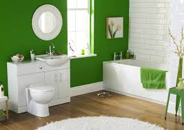 white bathroom color ideas. bright green wall paint for modern bathroom design using white bathtub units and awesome subway tiles accents feat decorative artwork color ideas