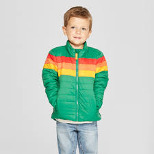 Cat And Jack Size Chart Boy Toddler Boys Rainbow Midweight Puffer Jacket Cat Jack