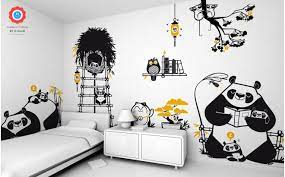 panda wall stickers for decorating your