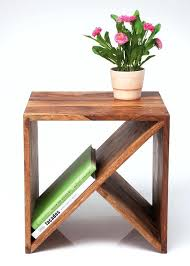 Unfinished Wood Magazine Holder Amazing Unfinished Wood Side Table Wood Side Table With Magazine Rack