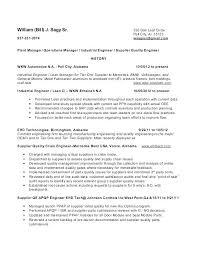 Resume Format For Quality Engineer Quality Engineer Resume Sample Wikirian Com