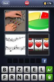 4 Pics 1 Word Pie Chart Music Sheet Slot Machine 4 Pics 1 Word Answer For Level 445 4pics1wordsolution
