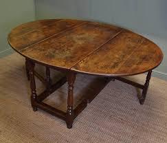 Drop Leaf Dining Table Large Eighteenth Century Country Oak Antique Drop Leaf Gate Leg