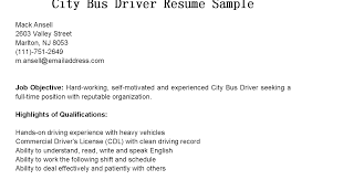 driver resumes city bus driver resume sample .