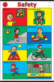 Safety Chart Safety Rules For Kids Teaching Safety