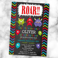 Lil Monster Birthday Invitations Little Monster Birthday Party Invitations Any Age Pack Of 10