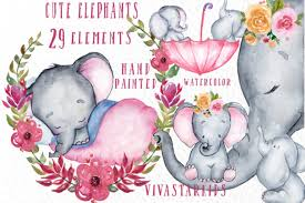 All contents are released under creative commons cc0. Cute Elephants Clipart Graphic By Vivastarkids Creative Fabrica