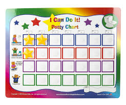 daily potty training chart amazon com kenson kids i can do it potty chart updated toilet
