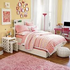 Awesome Image Of Girl Bedroom Decoration Using Various Wall Stripping In Girl  Room : Elegant Girl