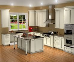 L Shape Dark Brown Wood Kitchen Cabinet Kitchen Designs With - Granite kitchen ideas