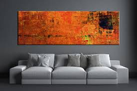 orange wall art