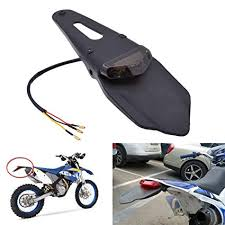 KaTur <b>Rear Fender LED</b> Brake Red Tail <b>Light Lamp</b> with Bracket for ...