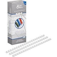 <b>Пружины для переплета</b> пластиковые <b>ProfiOffice</b> 10 мм белые ...