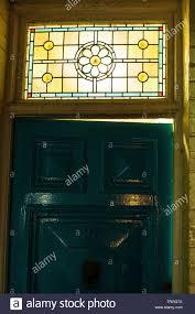 Door Top Light Old Doorway And Door Top Light Dartmouth Uk Stock Photo