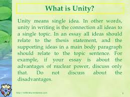 essay writing unity and coherence   2 what is unity