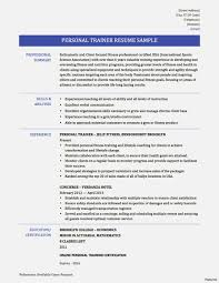 Fantastic Personal Trainer Resume Gallery Entry Level Resume