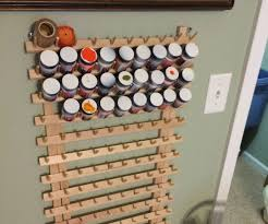 craft or model paint storage rack on the 3 steps with pictures