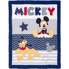 mickey mouse crib sheet set disney lets go mickey ii 4 piece crib bedding set walmart com