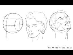 Face Perspective Chart How To Draw The Head From Any Angle Loomis Method Youtube