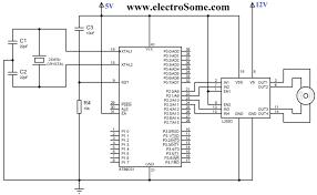 interfacing stepper motor 8051 using keil c at89c51 circuit diagram interfacing bipolar stepper motor 8051 using l293d