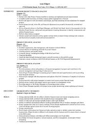 Project Finance Analyst Resume Samples Velvet Jobs