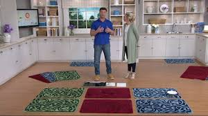 don aslett s choice of tonal pattern microfiber indoor mats on qvc