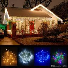 Wholesale 10 X 0 5m 320 Led Outdoor Home Warm White Christmas Decorative Xmas String Fairy Curtain Garlands Party Lights For Wedding Globe String
