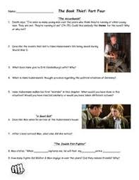 the book thief part characters and figurative language quiz  the book thief part 4 comprehension questions