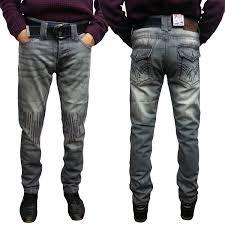 Mens Grey Designer Jeans