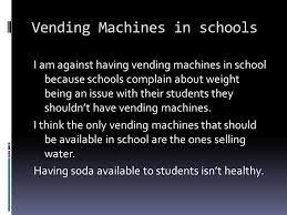 Why Should We Have Vending Machines In School Enchanting By Brittany Griffin Advertising  Ad A Public Promotion Of Some