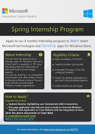 Internship Program At Microsoft Innovation Center Karachi