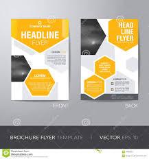 Templates For Brochure Corporate Hexagonal Brochure Flyer Design Layout Template In
