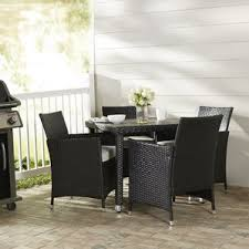 Simple Modern Patio Dining Furniture Mercer 5 Piece Outdoor Set With Cushion On Concept Ideas