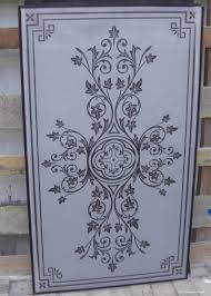 glass sandblasting clear door panel