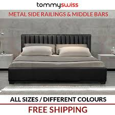 <b>NEW King</b>, <b>Queen</b> & Double Size Deluxe PU <b>Leather</b> Bed Frame