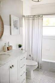 Soft And Simple Small Bathroom Remodel On A Budget We Transformed This Small Bathroom For Under 1500 Bathrooms Remodel Small Bathroom Small Bathroom Remodel