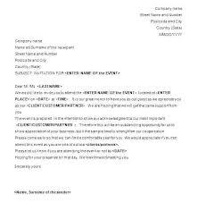 Formal Invitation Template S Nvte Letter For Event Cafe322 Com