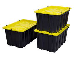 Recessed knuckle hinges to prevent sagging. Heavy Duty Plastic Storage Bins Set Of 3 Wi 3001 Mount It