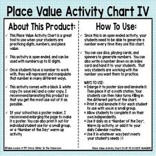 Place Value Activity Chart Iv Up To 10 Digits Freebie