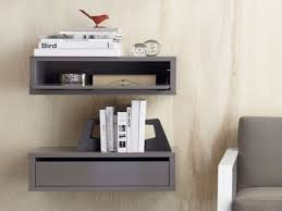 Bedroom: Floating Bedside Table | Floating Nightstand Ikea | Wall Within  Ikea Wall Mounted Nightstand